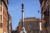 Piazza Mignanelli Colonna Dell Immacoloata Column Roman Streets — Stock Photo