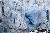 Blue Icy Portage Glacier Crevaces Alaska — Stock Photo