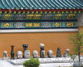 Dragon Wall Details Stone Buddhas Wong Tai Sin Taoist Temple Ko — Stock Photo