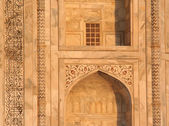 Taj Mahal Wall Arch Details Agra India — Stock Photo