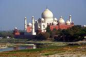 Taj Mahal With River and Reflection Agra India — Stock Photo