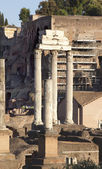 Temple of Castor and Pollux Forum Rome Italy — Stock Photo