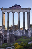 Temples of Saturn Forum Rome Italy — Stock Photo