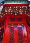 Red Window Wong Tai Sin Taoist Temple Kowloon Hong Kong — Stock Photo
