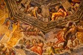 Vasari fresken kuppel duomo kathedrale basilica dome florenz italien — Stockfoto
