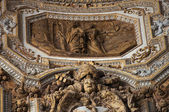 Vatican Ceiling Inside Sculpture Saint Peter and Angel Rome Ital — Stock Photo