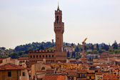 Palazzo Vecchio Arnolfo Tower Florence Rooftops Italy — Stock Photo