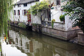 Ancient Chinese Houses Reflection Canals Suzhou China — Stock Photo