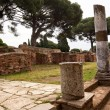 Ancient Roman Street Columns Ostia Antica Rome Italy — Stock Photo
