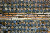 Ancient Roman Stone Wall Background Ostia Antica Rome Italy — Stock Photo