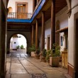 Stock Photo: Entrance Arch Courtyard Mexico