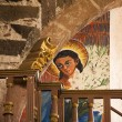 Christ Painting Parroquia Archangel Church San Miguel de Allende — Stock Photo