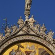 Saint Marks Basilica Christ Rising Mosaic Angels Statue Venice I — Stock Photo