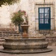 Stock Photo: small courtyard plaza fountain morelia mexico
