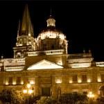 Catedral de guadalajara de México en la noche — Foto de Stock