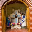 Stock Photo: Street ChristiShrine Janitzio Island Mexico