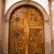 Church Door Janitzio Island Mexico — Stock Photo #6110580
