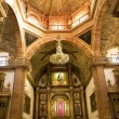 Stock Photo: Orange brick dome Golden Altar ParroquiArchangel Church SMi