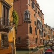Small Side Canal Bridges Venice Italy — Stock Photo