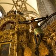 Inside of Metropolitan Cathedral, Zocalo, Cneter, Mexico City - Stock Photo