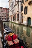 Small Side Canal Bridge Gondola Venice Italy — Stock Photo