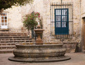 Small Courtyard Plaza Fountain Morelia Mexico — Stock Photo