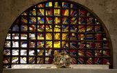 Güvercin vitray tapınağı kefaret meksika — Stok fotoğraf