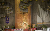 Shrine of the Guadalupe, Church Service, Interior, Mexico City — Stock Photo