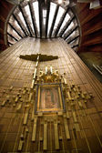Guadalupe Painting Hanging Over Altar Mexico — Stock Photo