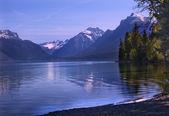 Lake McDonald Reflection Glacier National Park Montana — Stock Photo