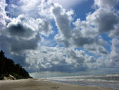 Beach at Liepajas Latvia under Blue Skies — Стоковое фото