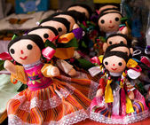 Colorful Lupita Dolls Mexico — Stock Photo