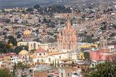 San Miguel de Allende Mexico Overlook Parroquia Archangel Church — Stock Photo