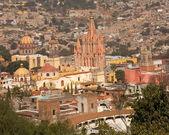 San Miguel Overlook Parroquia Archangel Church — Stock Photo