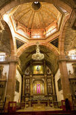 Orange brick dome Golden Altar Parroquia Archangel Church San Mi — Stock Photo