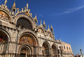 Saint Mark's Basilica Details Statues Mosaics Doge's Palace Veni — Stock Photo