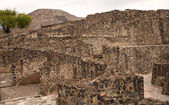 Moon Pyramid With Ruins Teotihuacan Mexico — Stock Photo