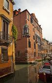 Small Side Canal Bridges Venice Italy — Stock Photo