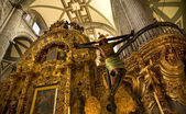 Inside of Metropolitan Cathedral, Zocalo, Cneter, Mexico City — Stock Photo