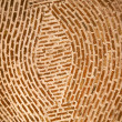 Adobe Brick Wall Concentric Circles Mexico — Stock Photo