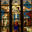 Annunciation Mary Stained Glass St. Patrick's Cathedral New York — Foto Stock