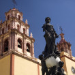 Peace Statue Basilica Guanajuato Mexico — Stock Photo
