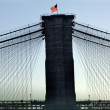 Brooklyn Bridge New York City Silhouette — Stock Photo