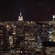 New York City Skyline East River Empire State Building Night — Stock Photo #6127439