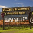 Entrance Sign Vineyards Napa California - 图库照片