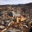 Churches Colored Houses El Pipilia Overlook Guanajuato Mexico — Stock Photo