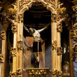 Crucified Jesus Hanging from Cross Altar Valencia Church Mexico — Stock Photo