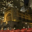 Saint Bartholomew's Episcopal Church New York City Nighttime Chr — Stock Photo