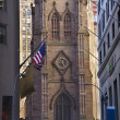 Trinity Church New York City Outside from Wall Street — Stock Photo #6127596