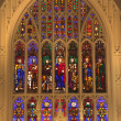 Stock Photo: Trinity Church New York City Inside Stained Glass